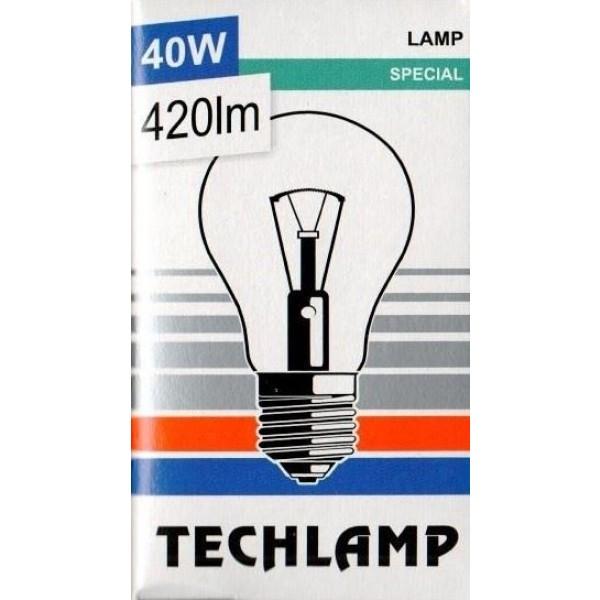 Žiarovka TECHLAMP čirá 40W E27 240V A55