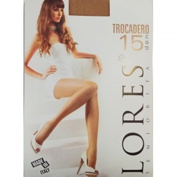 Dámské silonky Lores Trocadero 15 Den, Golde 2-S