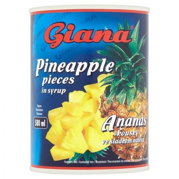 Giana Ananás kúsky v sladkom náleve 565 g