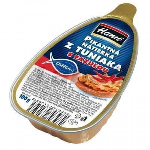 Hamé Nátierka z tuniaka pikantná s fazuľou 100 g