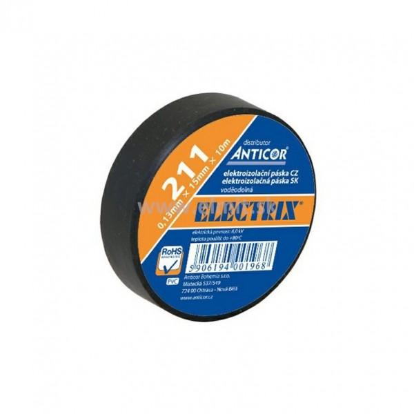 """Izolačná páska ELECTRIX - PVC 15mm x 10m - čierna """"ANTICOR"""""""