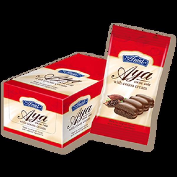 Kakaové piškóty s kakaovým krémom máčané v horkej čokoláde AYA 50g