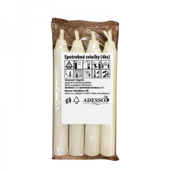 Konzumné sviečky ADESSO 150gr 4ks