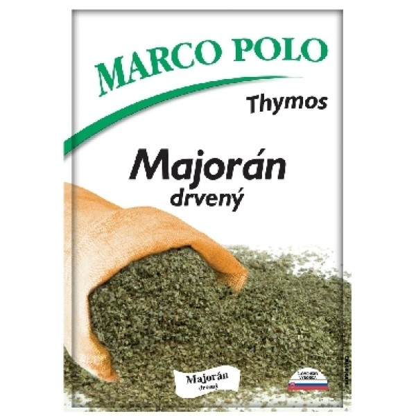Majorán sušený drvený Thymos Marco Polo 5g