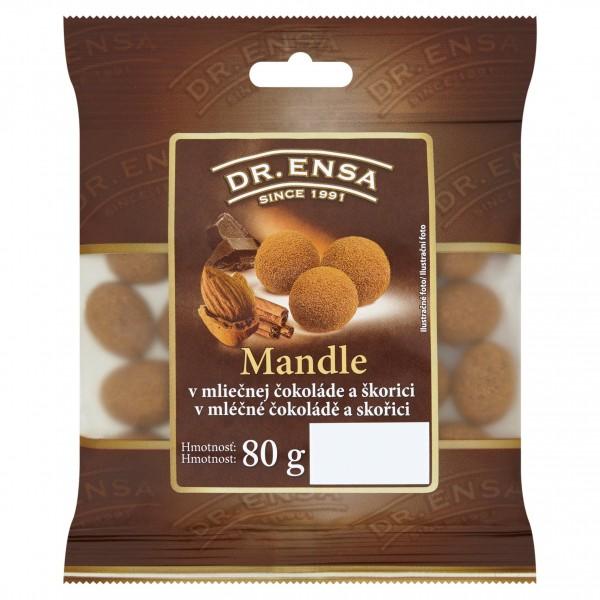 Mandle v mliečnej čokoláde so škoricou Dr.Ensa 80g