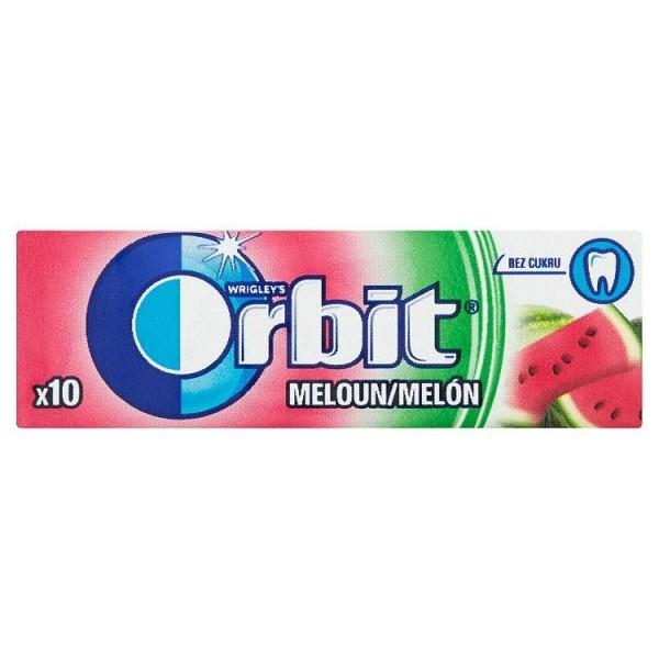 Wrigley's Orbit Melón žuvačka bez cukru s melónovou príchuťou 10 ks 14 g