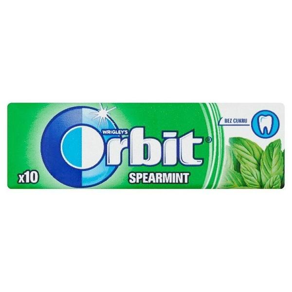 Wrigley's Orbit Spearmint žuvačka bez cukru s mätovou príchuťou 10 ks 14 g