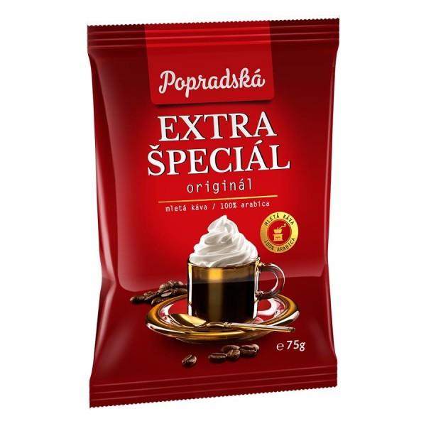 Popradská Extra špeciál pražená mletá káva 75 g