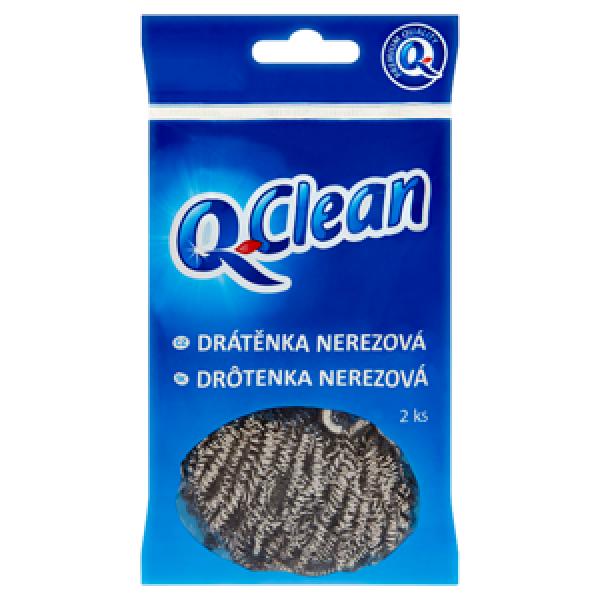 Q Clean drátenka nerezová 2ks