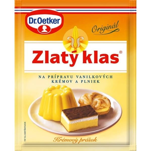 Zlatý klas Dr.Oetker - prášok s vanilkovou arómou na prípravu krémov a plniek 40 g