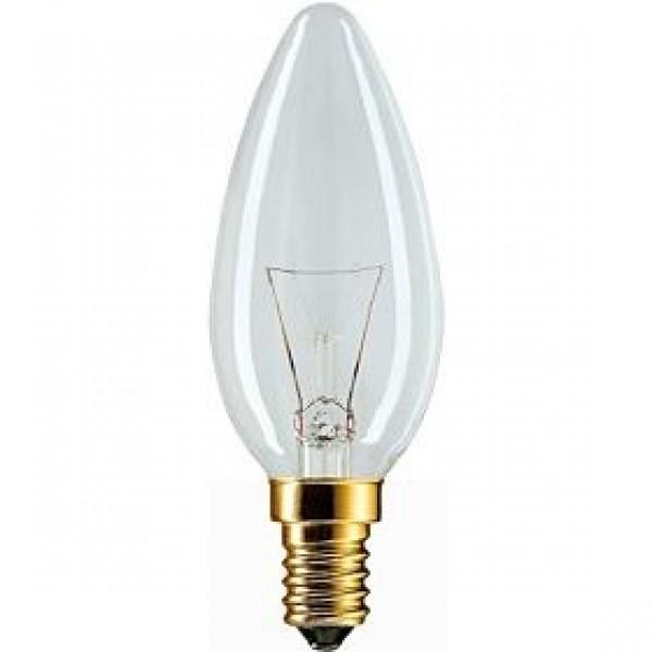 40W E14 230V B35 žiarovka sviečková číra otrasuvzdorná AZ