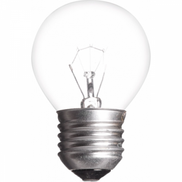 """Žiarovka otrasuvzdorná iluminačná P45-E27-60W, E27, 60W, číra, 580lm """"INQ"""""""