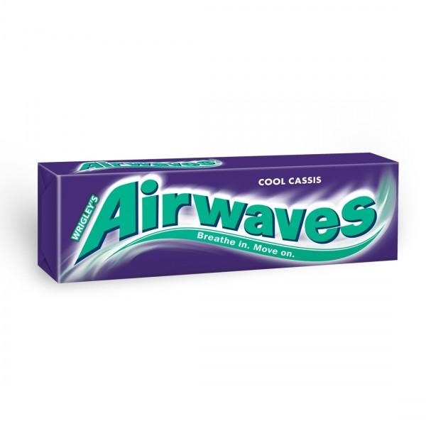 Wrigley's Airwaves Cassis žuvačka bez cukru s príchuťou mentolu a čiernej ríbezle 10 ks 14 g