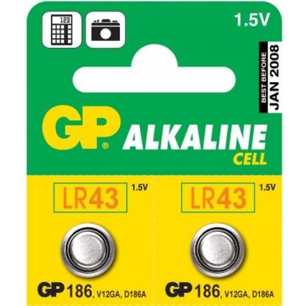batéria GP 186 (typ GP 186) (AG12, LR43, LR1142, V12GA)