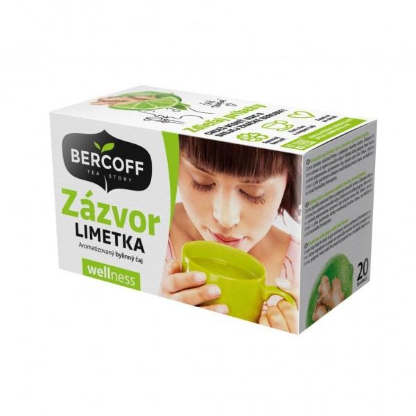 Čaj Bercoff zázvorový s limetkou 40g