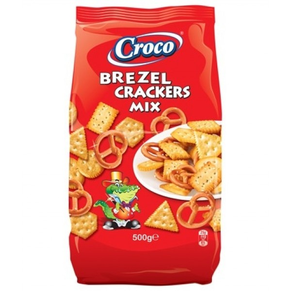Croco brezel crackers Mix 500g