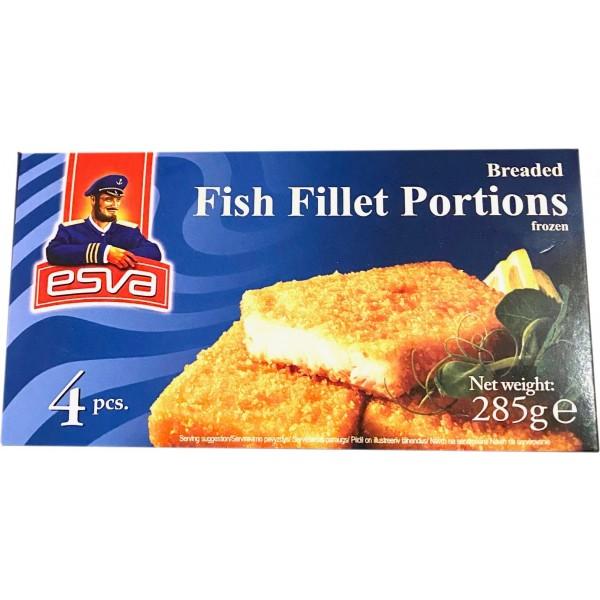 Obaľované rybie filé porcie ESVA 285g hlbokozmrazené