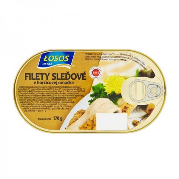 Filety sleďové v horčicovej omáčke 170 g