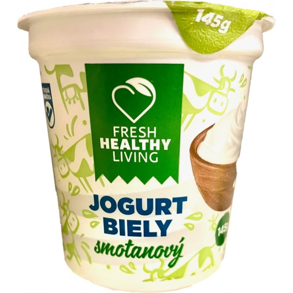 Smotanový jogurt biely Fresh healthy living 145g