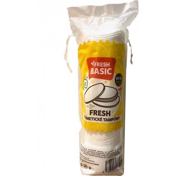 Tampóny kozmetické odličovacie 80ks fresh basic