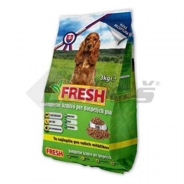 """Granule pre psa """"FRESH"""" 3kg Kompletné"""