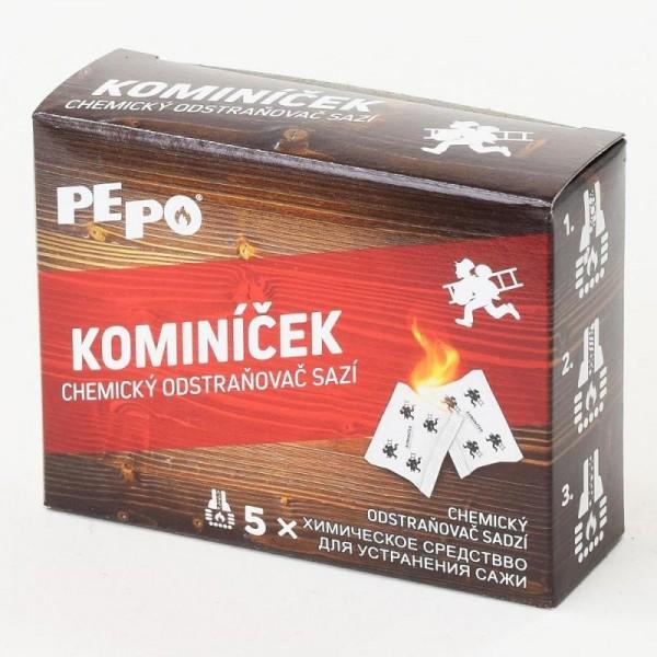 PEPO Kominíček 14g, chemický odstraňovač sadzí, 5ks/bal.