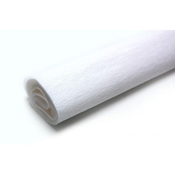 Krepový papier 50x200 cm biely