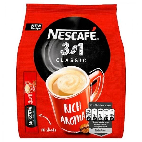 NESCAFÉ 3in1 Classic, instantná káva, 10 vrecúšok x 16,5 g