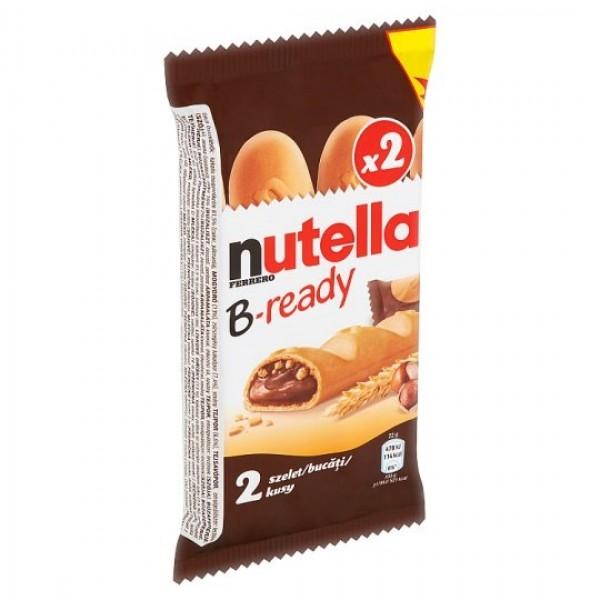 Nutella B-ready Oblátka plnená nátierkou z lieskovcov a kakaa a malými pšeničnými chrumkami 2 x 22 g