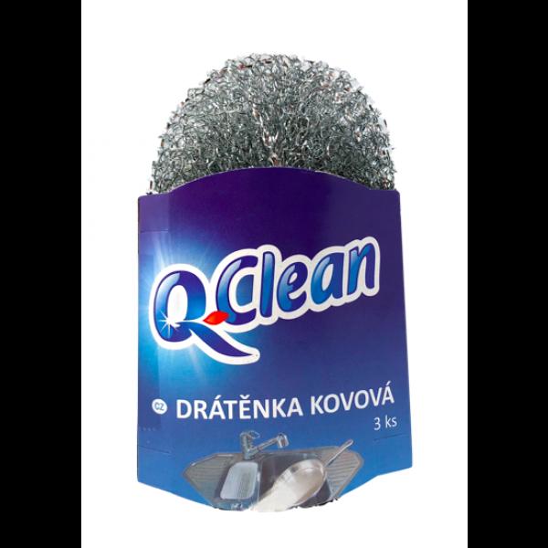 Q Clean Drôtenka kovová 3ks