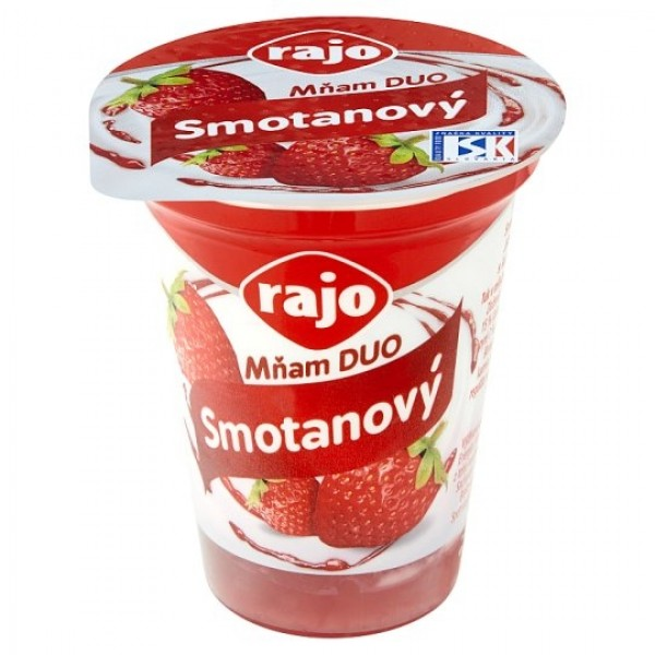 Rajo Mňam DUO Smotanový jogurt jahoda 145 g