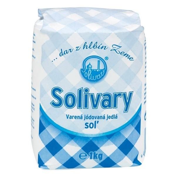 Soľ jedlá varená jódovaná Solivary Prešov 1kg