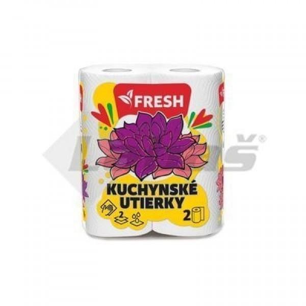 Utierky kuchynské 2-vrstvové 50-útržkové Fresh 2ks