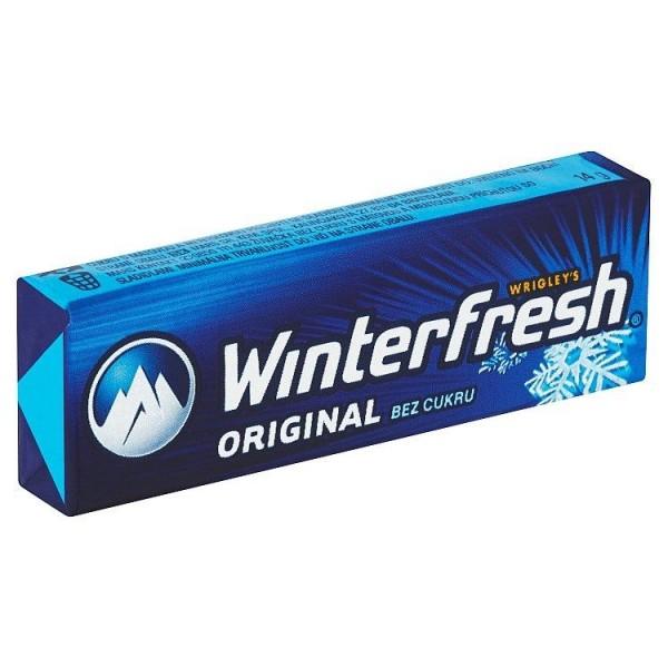 Wrigley's Winterfresh Original žuvačka bez cukru s mätovou a mentolovou príchuťou 10 ks 14 g